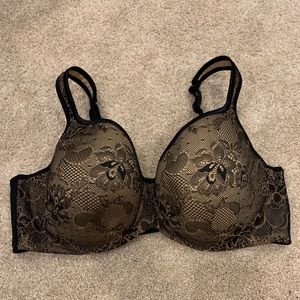 Cacique 44DD Black Lace